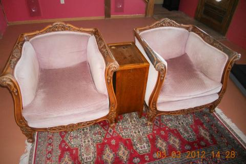 antique hand carved chairs Photo