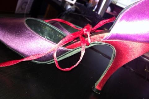 Purple Ferragamo Heels Size 8 - Like New Photo