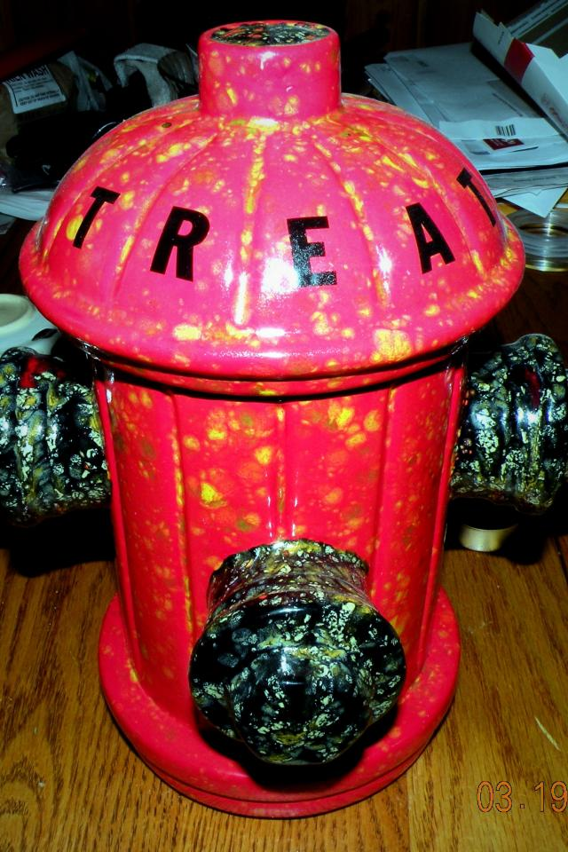 Fire Hydrant Pet Treat Jar Photo
