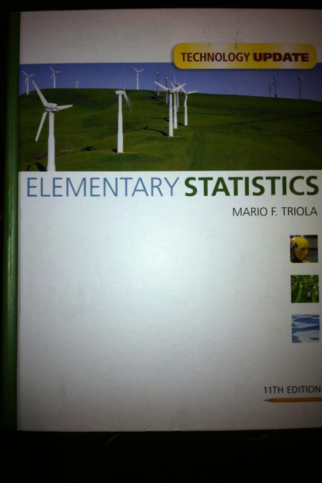 Elementary Statistics - Mario F. Triola Photo