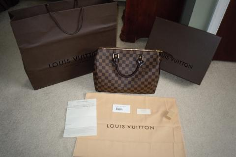 Louis Vuitton Speedy 30 Damier Canvas Purse Photo