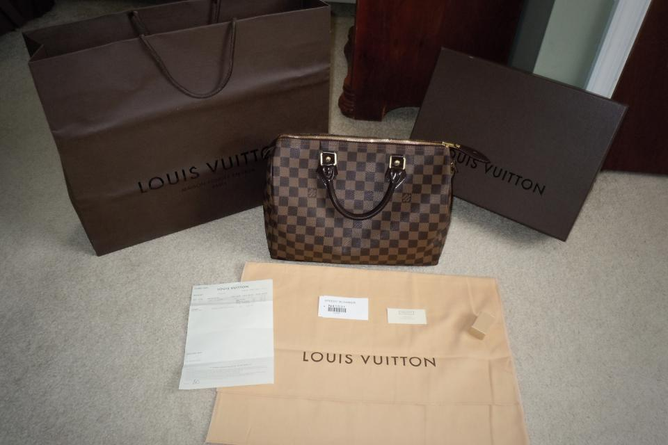 Louis Vuitton Speedy 30 Damier Canvas Purse Large Photo