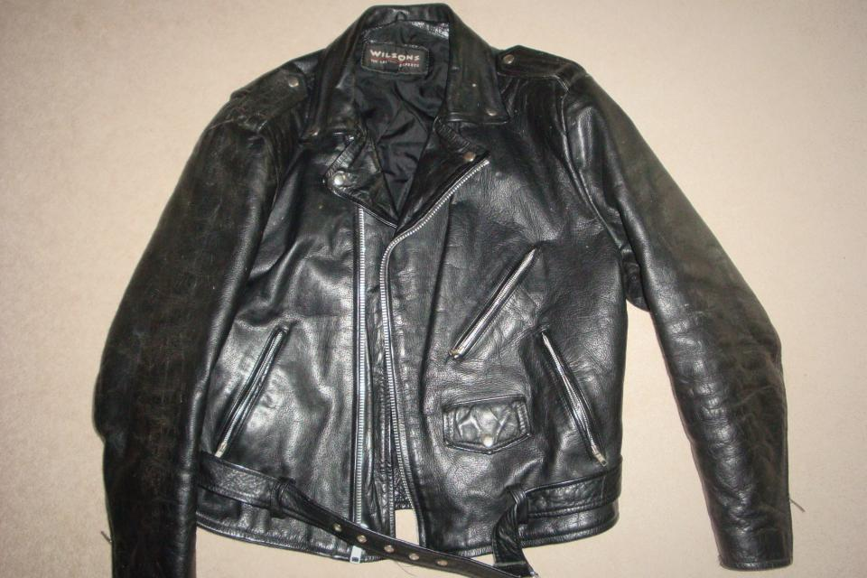 Wilson Leather Motorcycle Riding Jacket Mens XL Large Photo