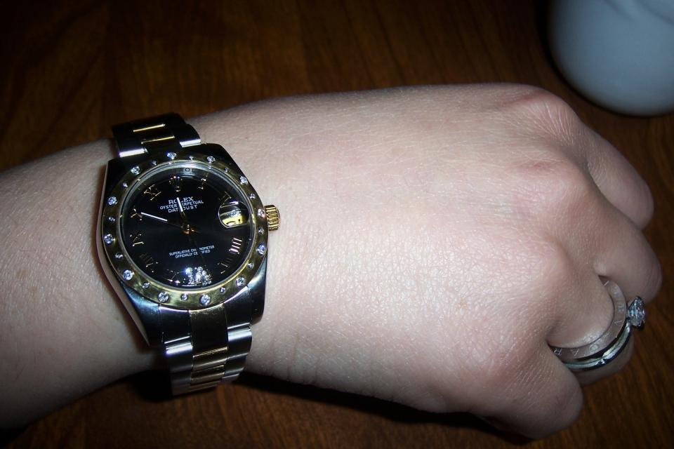 ROLEX LADIES DATEJUST TWO TONE GLD/SS W/DIAMONDS USED EXCELLENT CONDITION 2010 Large Photo