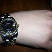 ROLEX LADIES DATEJUST TWO TONE GLD/SS W/DIAMONDS USED EXCELLENT CONDITION 2010 Photo