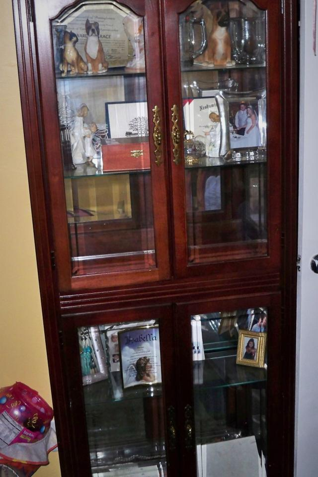 100% Cherry wood Curio cabinet Photo