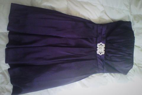 **Beautiful Formal Prom Dress + MATCHING NECKLACE Photo