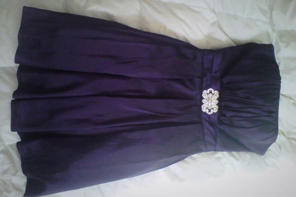 **Beautiful Formal Prom Dress + MATCHING NECKLACE Large Photo