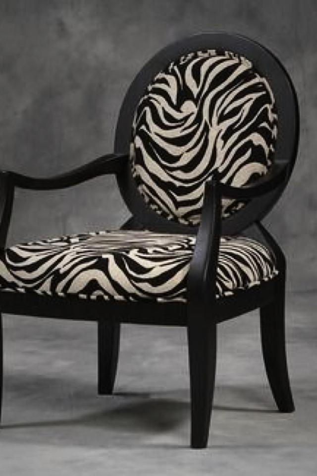 Beautiful Stylish Zebra Print Chair Photo