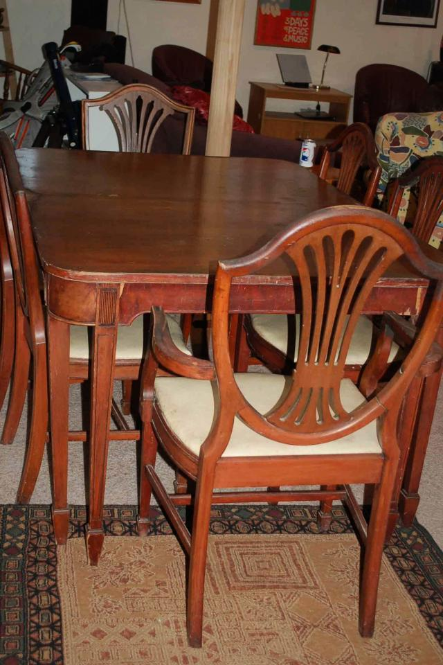 Vintage Shield back chairs and table dining room set - PRICE REDUCED! Photo