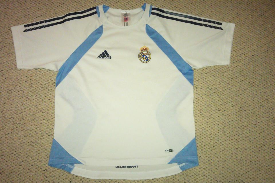 AUTHENTIC Adidas Spain Real Madrid Training Soccer Jersey 2005/2006 Large Photo