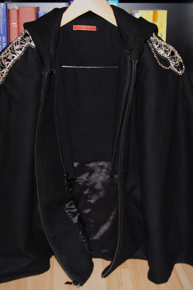 Alice + Olivia Sequined Hoodie Cape Photo