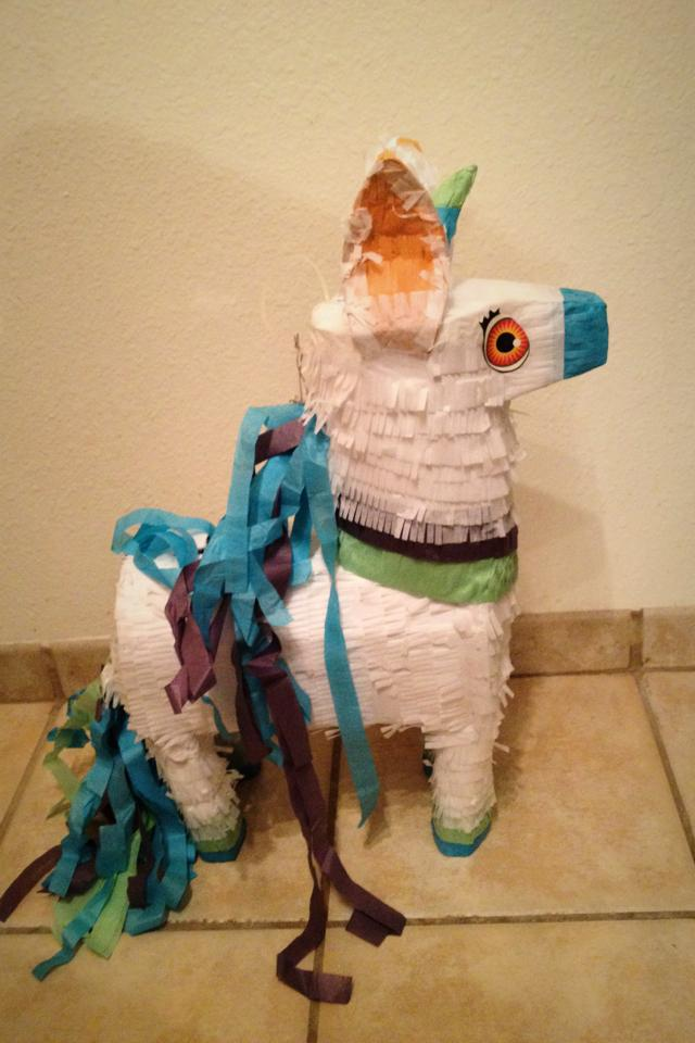 Brand new unicorn piñata!  Photo