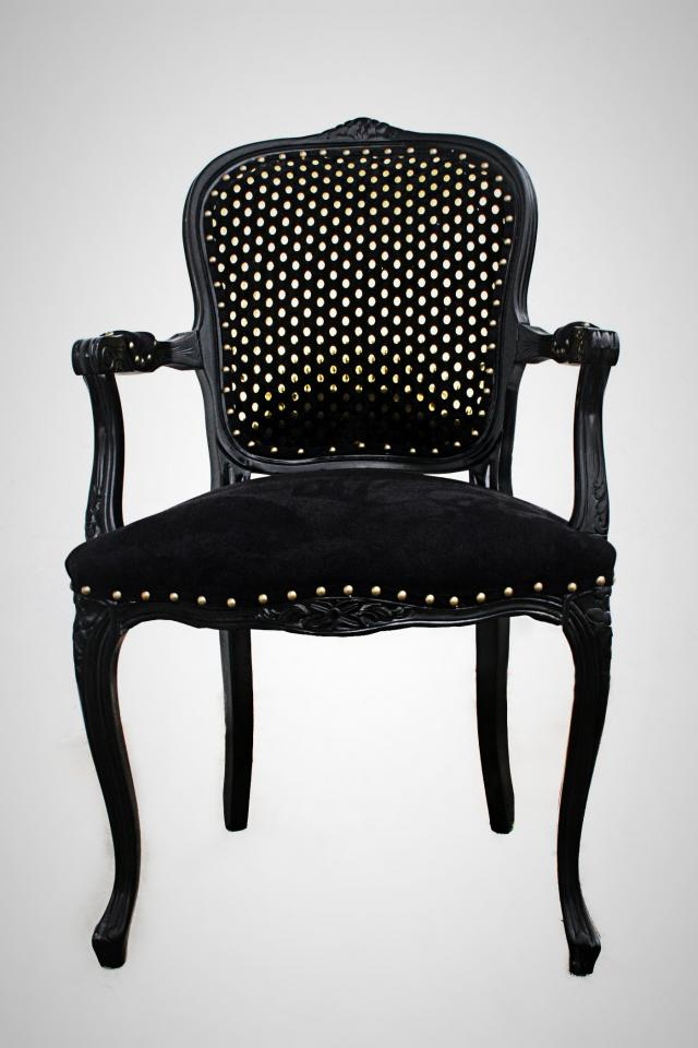 BLACK ARM CHAIR Large Photo