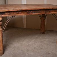 Indian Hardwood Dining Table Photo