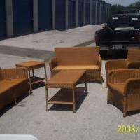 Blonde Wicker Set - 512-662-4811 - $600 (620 & Volente Rd.) Photo
