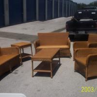 Blonde Wicker Set - 512-662-4811 - $600 (620 & Volente Rd.) Photo