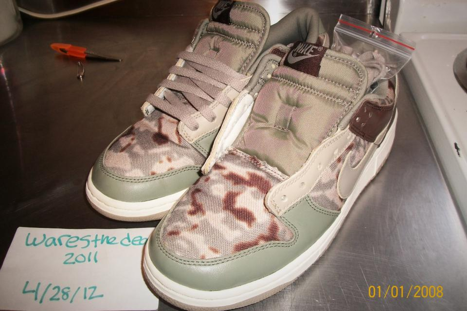 Nike Dunk Premium Low Camo Camoflage Limited Edition Mens 9 Very Rare! Large Photo