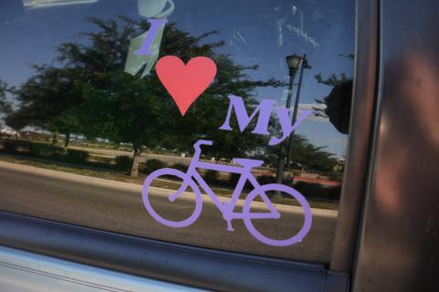 i love my bike car decal Photo