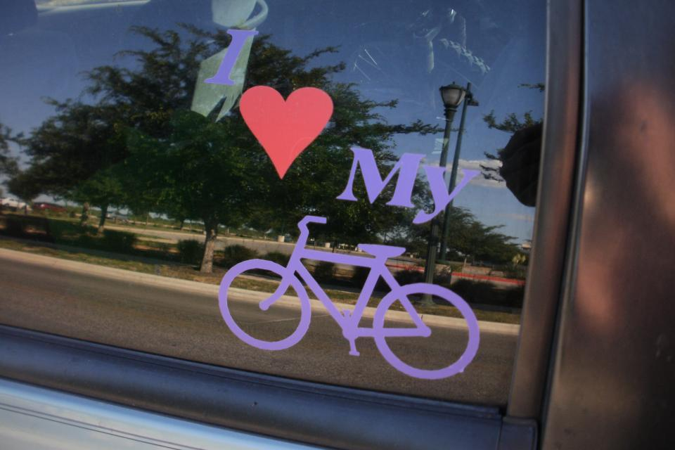 i love my bike car decal Large Photo