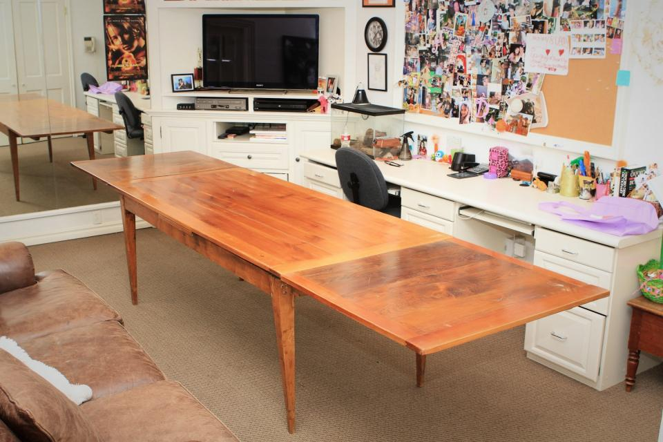 dining table dining table sliding leaves