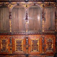 Antique Hand Carved Vestry Cabinet 18th Century Photo