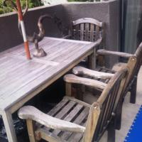 Teak Outdoor Table W/ 4 chairs Photo