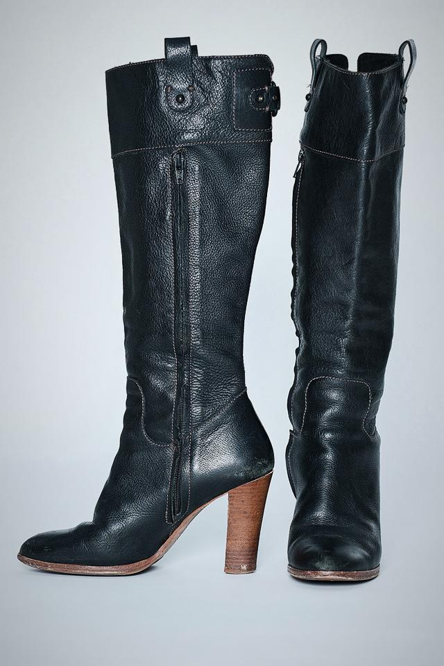 Banana Republic Black Knee Boots Photo