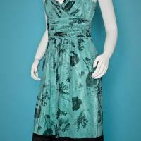 Laundry Teal Floral Dress Photo
