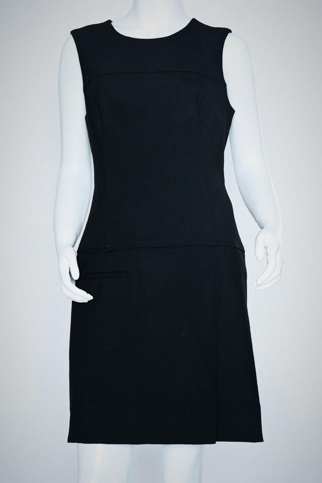 Shoshanna Black Shift Dress Large Photo