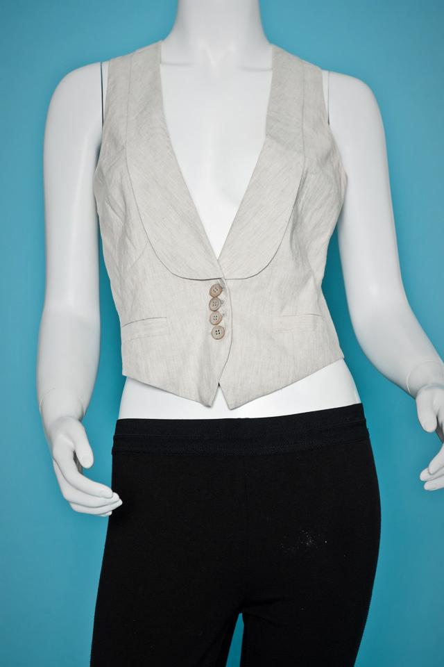 French Connection Linen Vest Large Photo