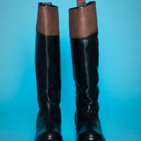 BDG Tall Leather Colorblock Boots Photo