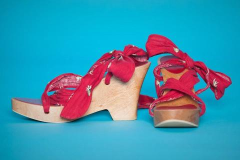 Jill Stuart Wooden Wrap Sandals Photo