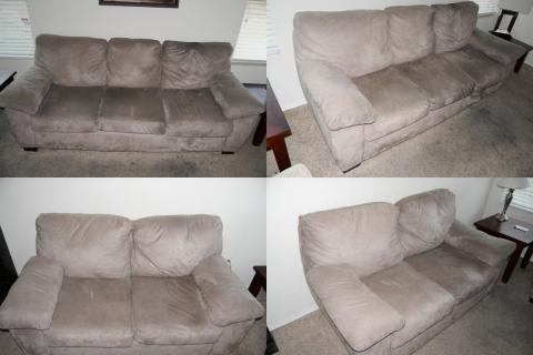 For Sale - Tan MicroFiber Sofa Set Photo