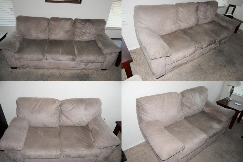 For Sale - Tan MicroFiber Sofa Set Large Photo