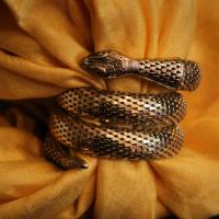 Buy a piece of accessory art! Vintage Gold Snake Wrap Bracelet  Photo