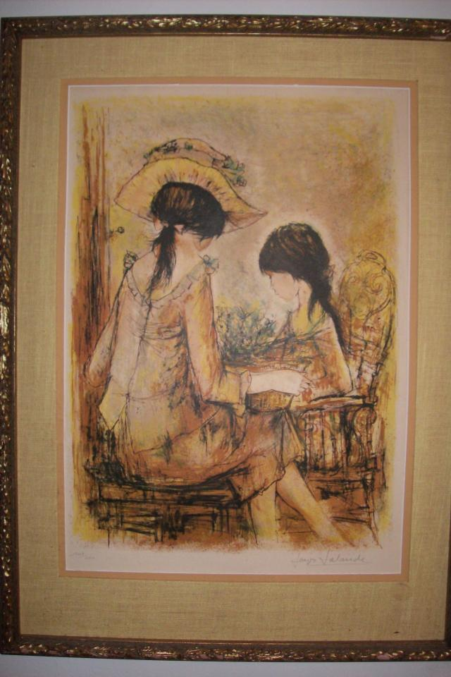 JAQUES LALANDE - Arranging Flowers, signed Lithograph with Certificate of Authenticity Large Photo