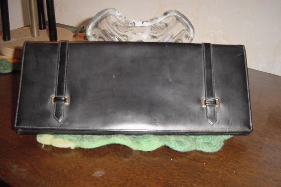 PURSE HANDBAG CLUTCH SIGNED LONA GROGRAIN Large Photo