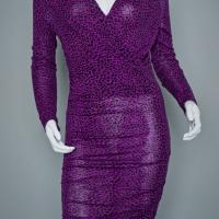MODA Purple Dress with Leopard Print Photo