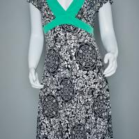 My Michelle Black and White Patterned Dress  Photo