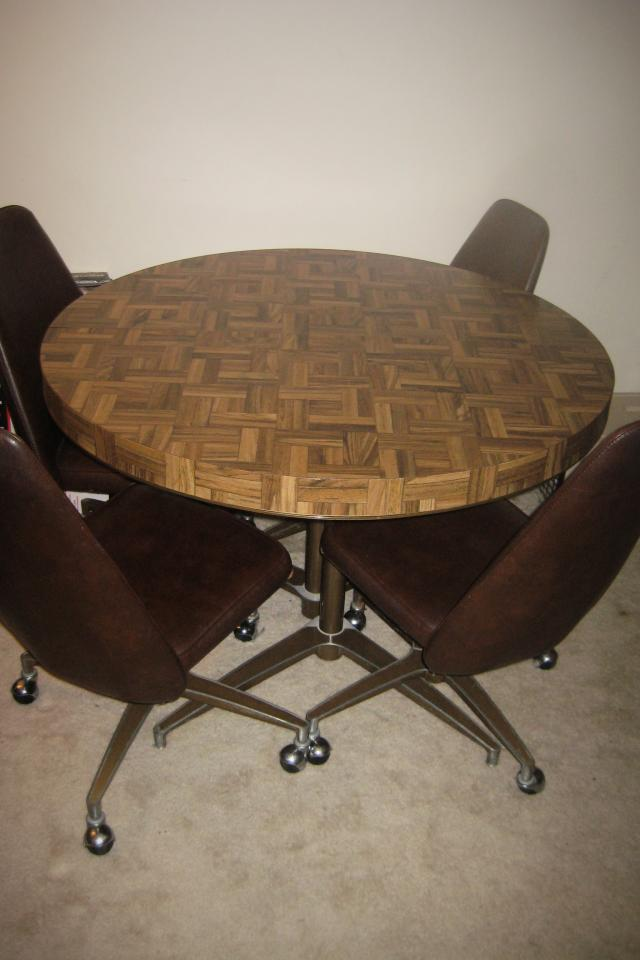 Vintage 70's Dining Table and Chair set Photo