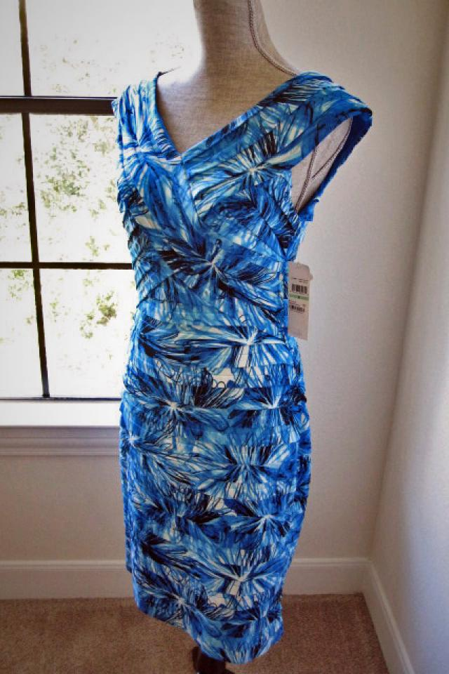 London Times dress. Size 8. Tropical print.  New  Photo