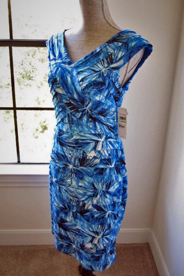 London Times dress. Size 8. Tropical print.  New  Photo