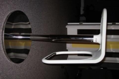 Unique white bar stools with chrome base Photo