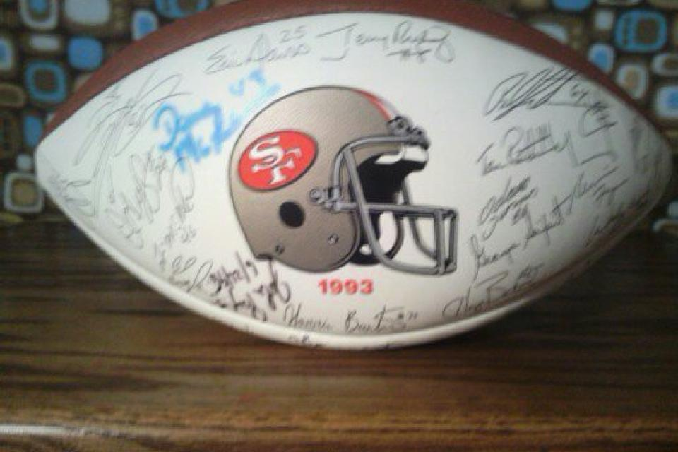 SF 49's 1993 autographed football Large Photo