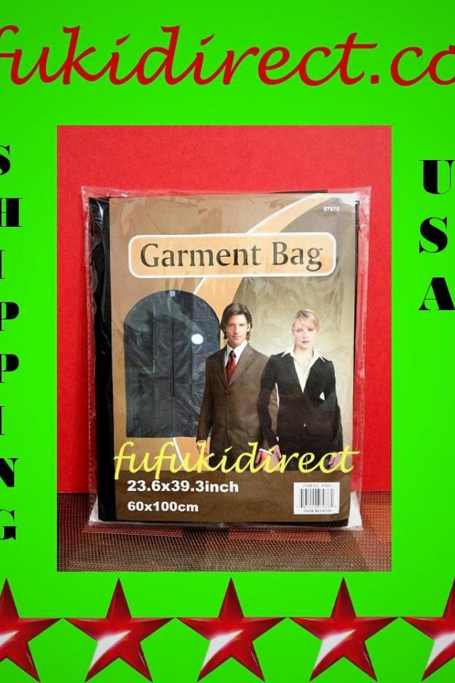 NEW STORAGE BAG GARMENT CLOTHES SUIT DRESS  TRAVEL - BLACK 24