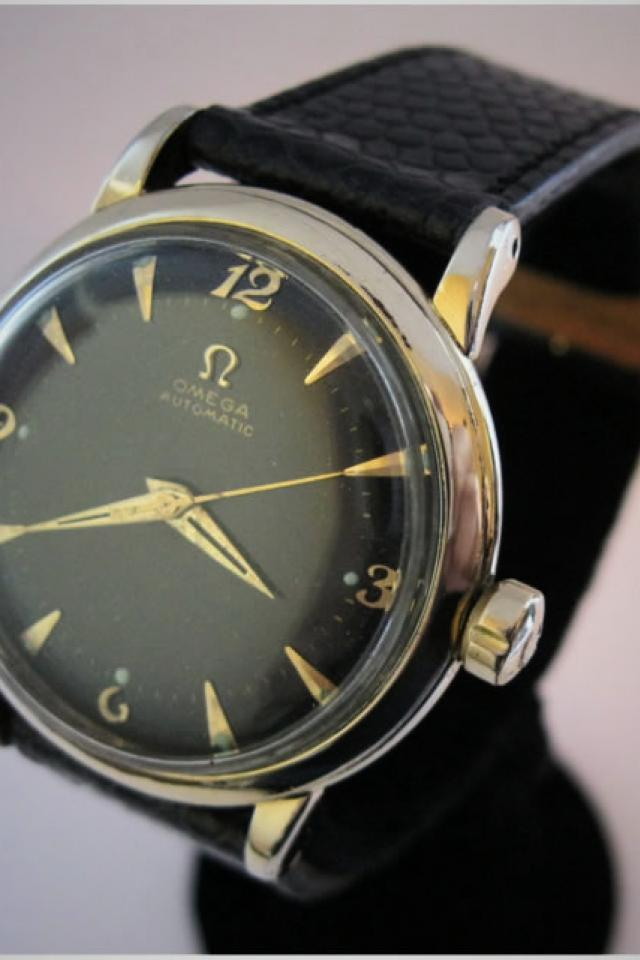 Vintage 1950s Omega bumper automatic 14K gf, great condition Photo