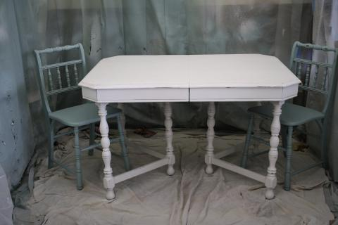 1920s Antique White Table Photo