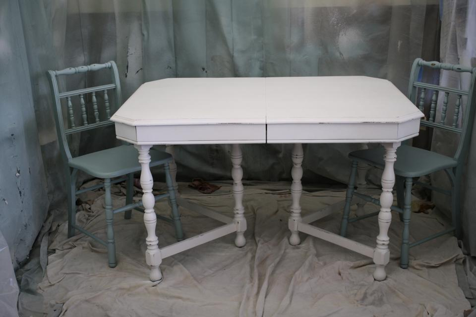1920s Antique White Table Large Photo