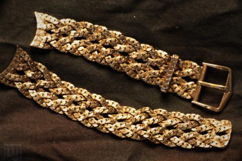 Vintage gold filled braided watch band - very cool 50s Photo